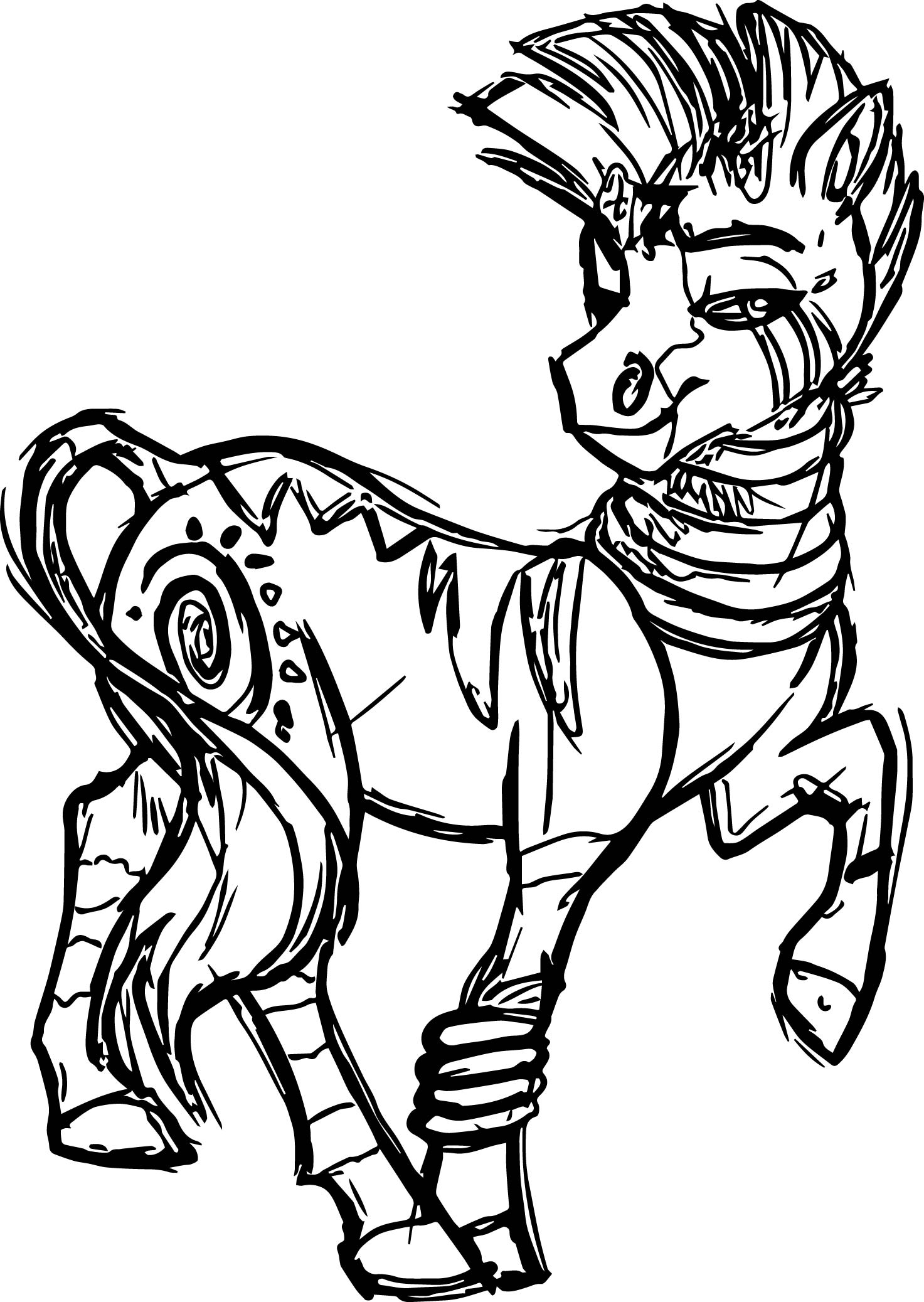 Zecora Request Coloring Page