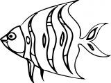 A Cartoon Fish Coloring Page Sheet