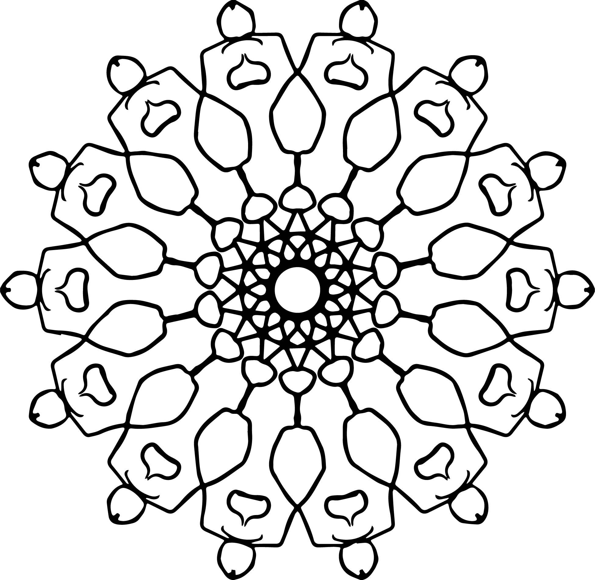 A Mandala Coloring Page