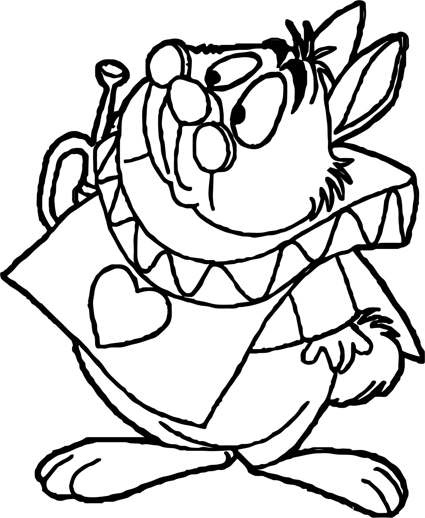 Alice In The Wonderland Bunny Wait Coloring Page