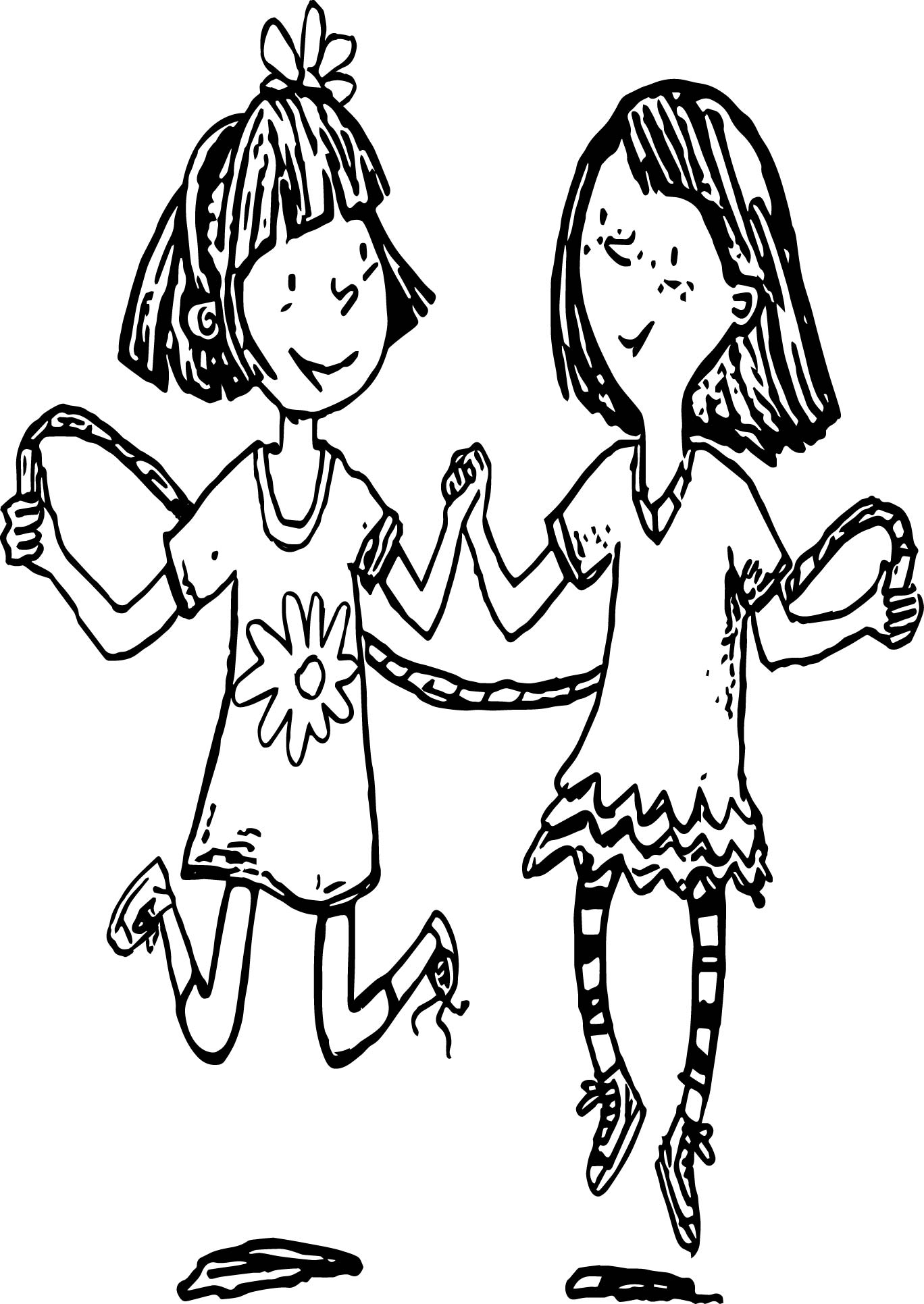 amelia bedelia coloring pages images for adults | Amelia Bedelia Jump Rope Coloring Page | Wecoloringpage.com