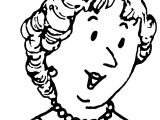 Amelia Bedelia Mother Face Coloring Page