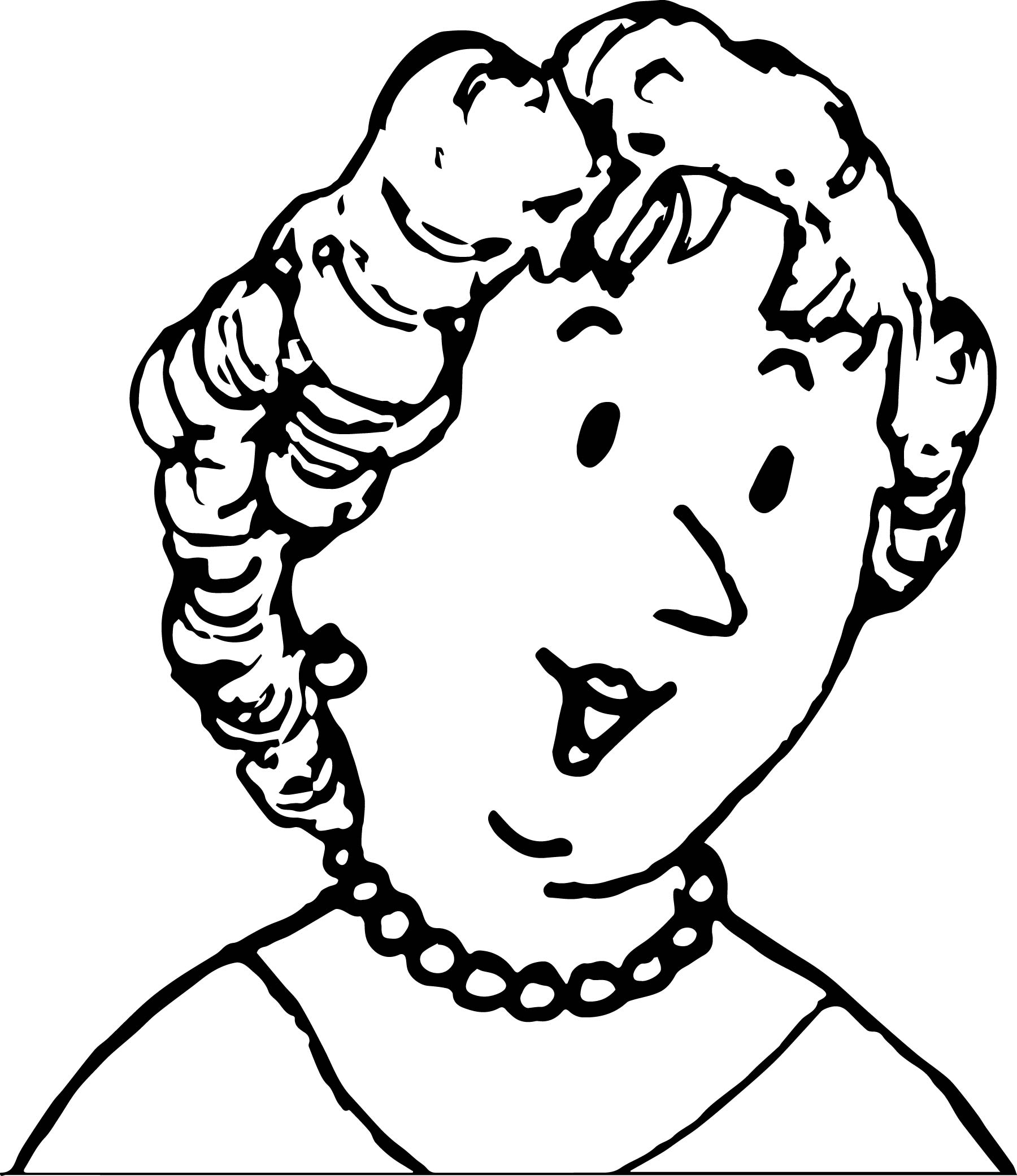 amelia bedelia mother face coloring page wecoloringpage