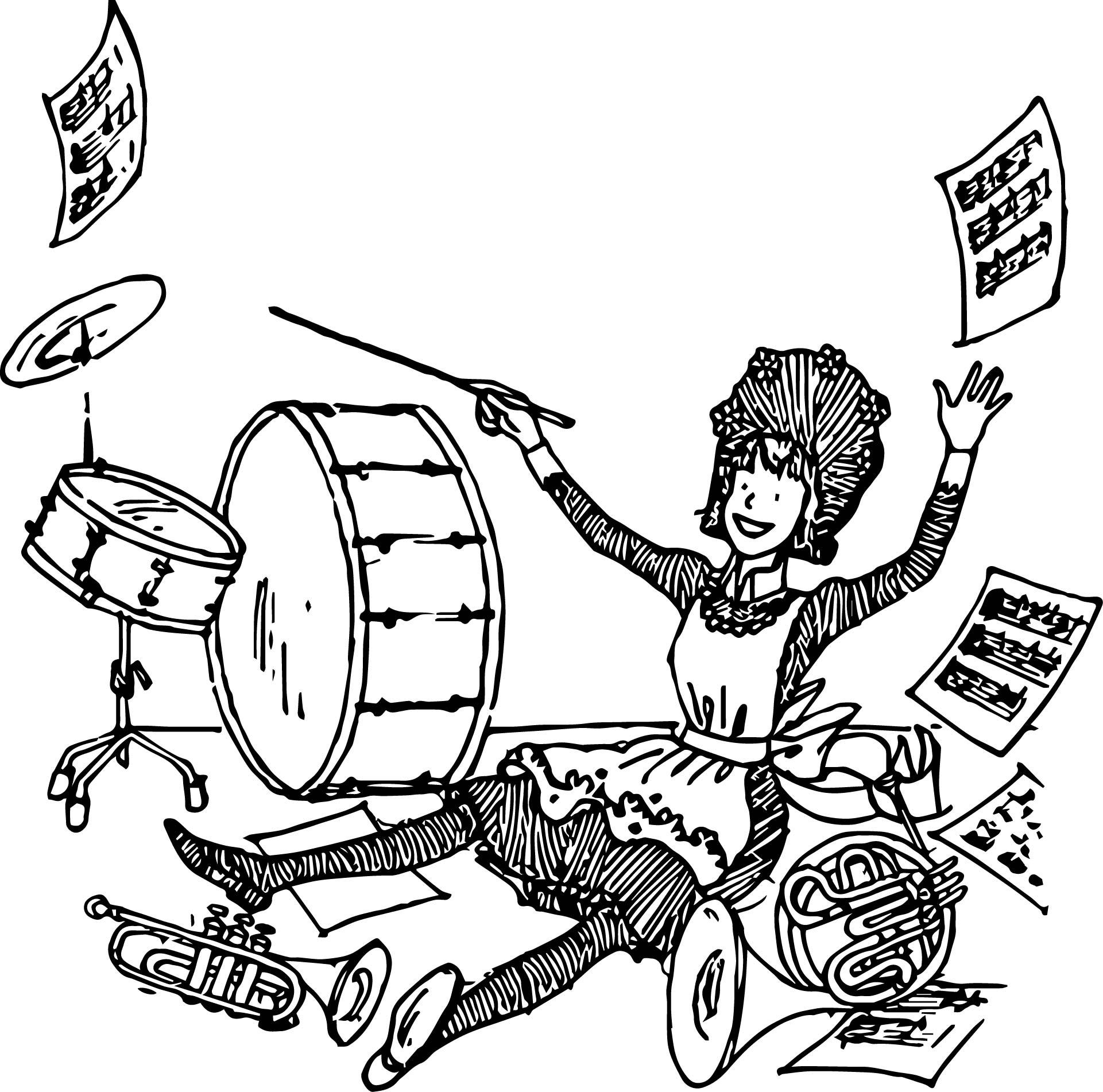 Amelia Bedelia Music Coloring Page