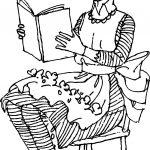 Amelia Bedelia Reading Book Coloring Page