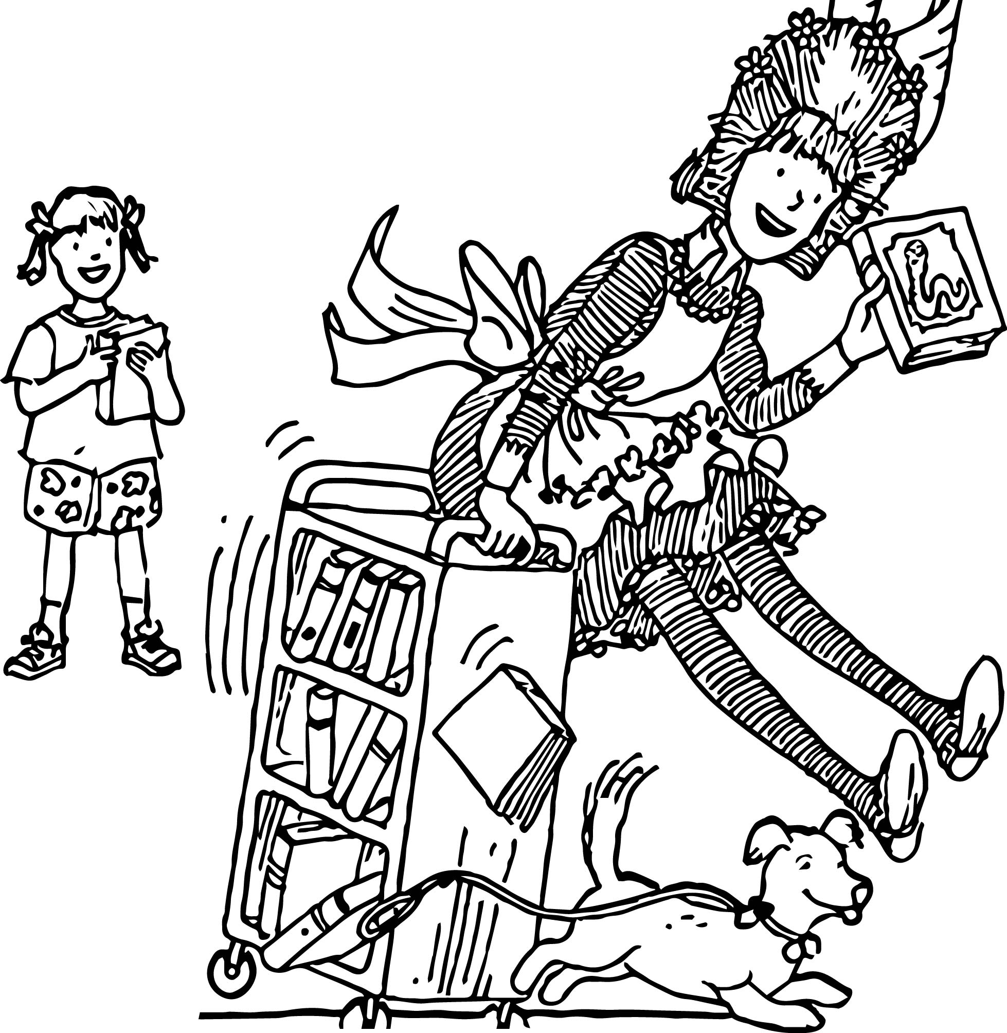 amelia bedelia coloring pages images for adults | Amelia Bedelia Run Coloring Page | Wecoloringpage.com