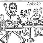 Amelia Bedelia School Coloring Page