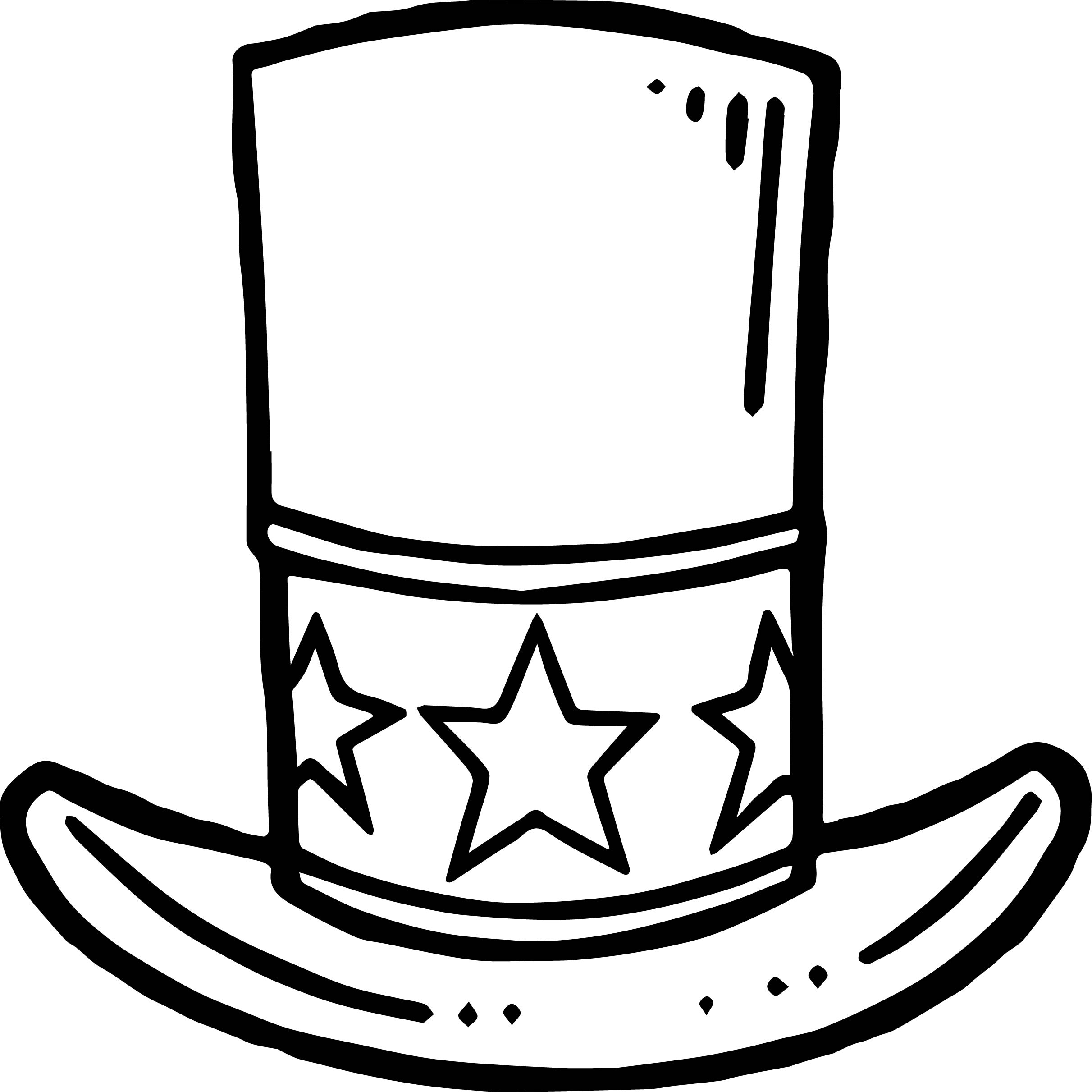 American Flag Hat Coloring Page Wecoloringpage Usa Hat Coloring Pages Usa