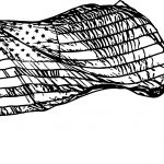 American Flag Opacity Coloring Page