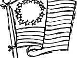American Revolution Old Flag Coloring Page