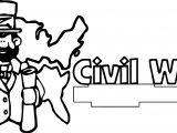 American Revolution Reconstruction Banner Civil War Coloring Page