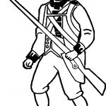American Revolution Soldier Coloring Page