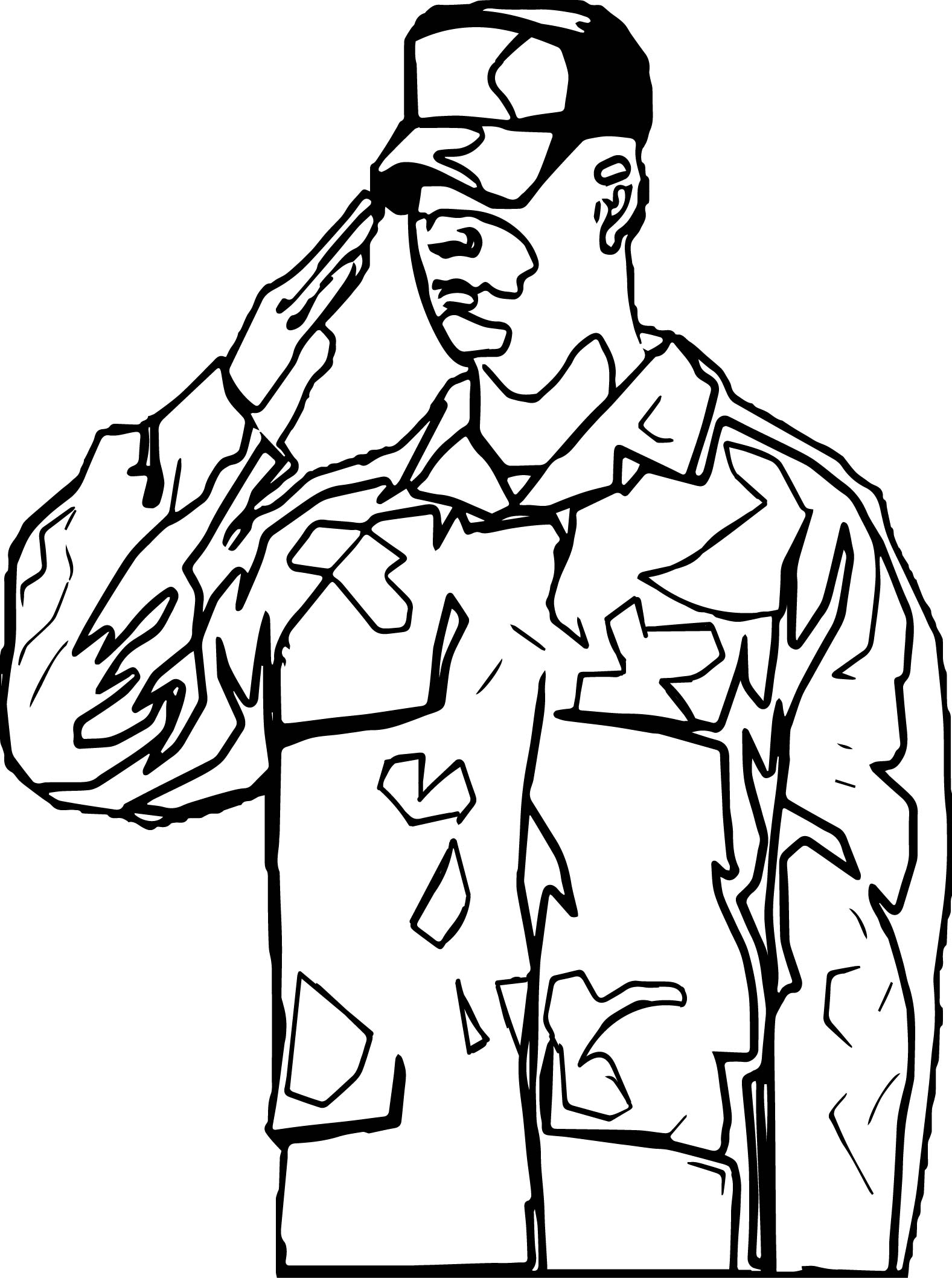 American Revolution Soldier Md Coloring Page