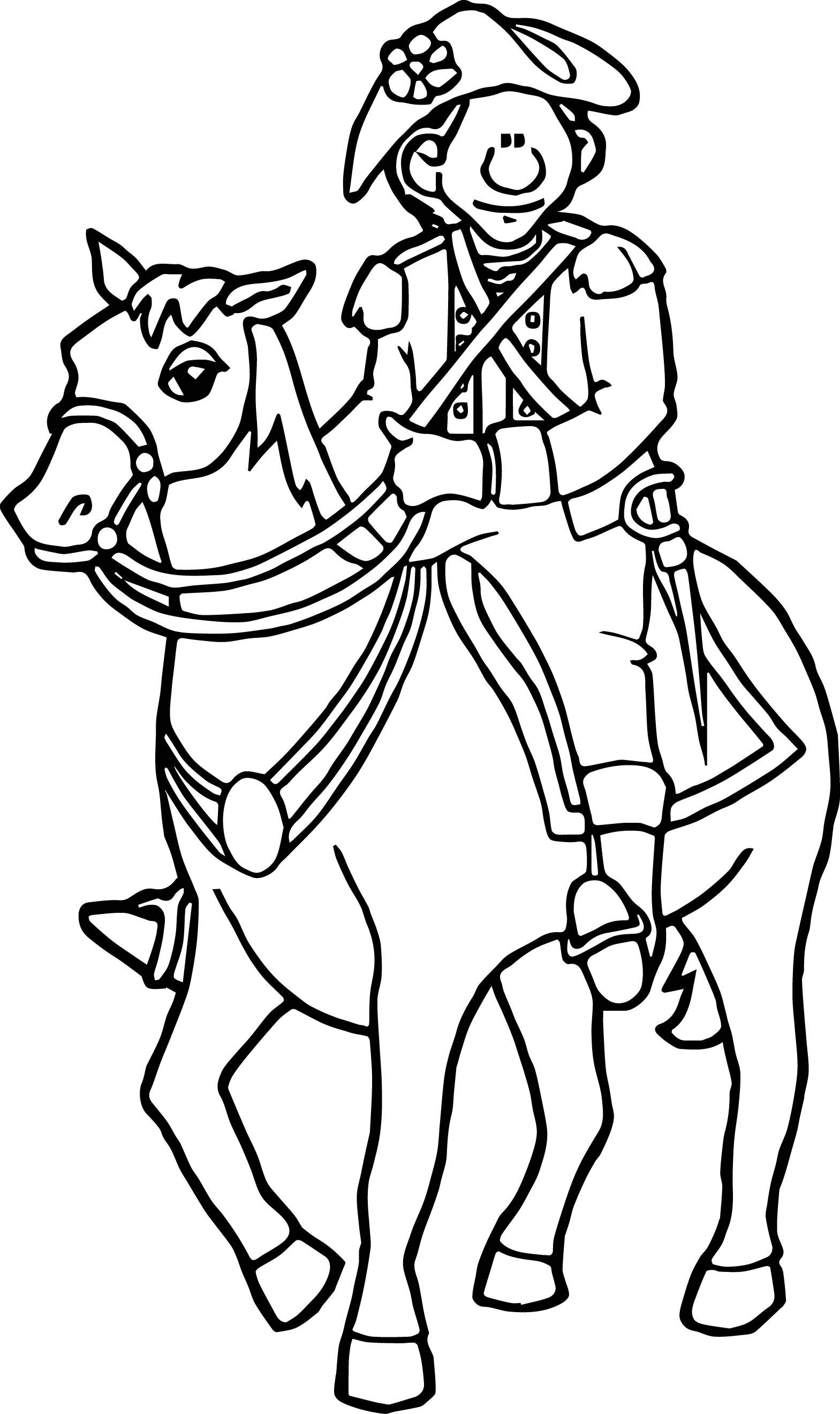 American Revolution South Carolina Francis Marion Coloring Page