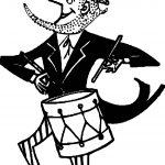 American Revolution Uncle Sam American Patriotic Drummer Coloring Page