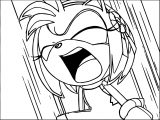 Amy Rose Laugh Coloring Pages