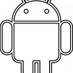 Android Robot Coloring Page