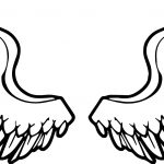 Angel Wings Angel Coloring Page