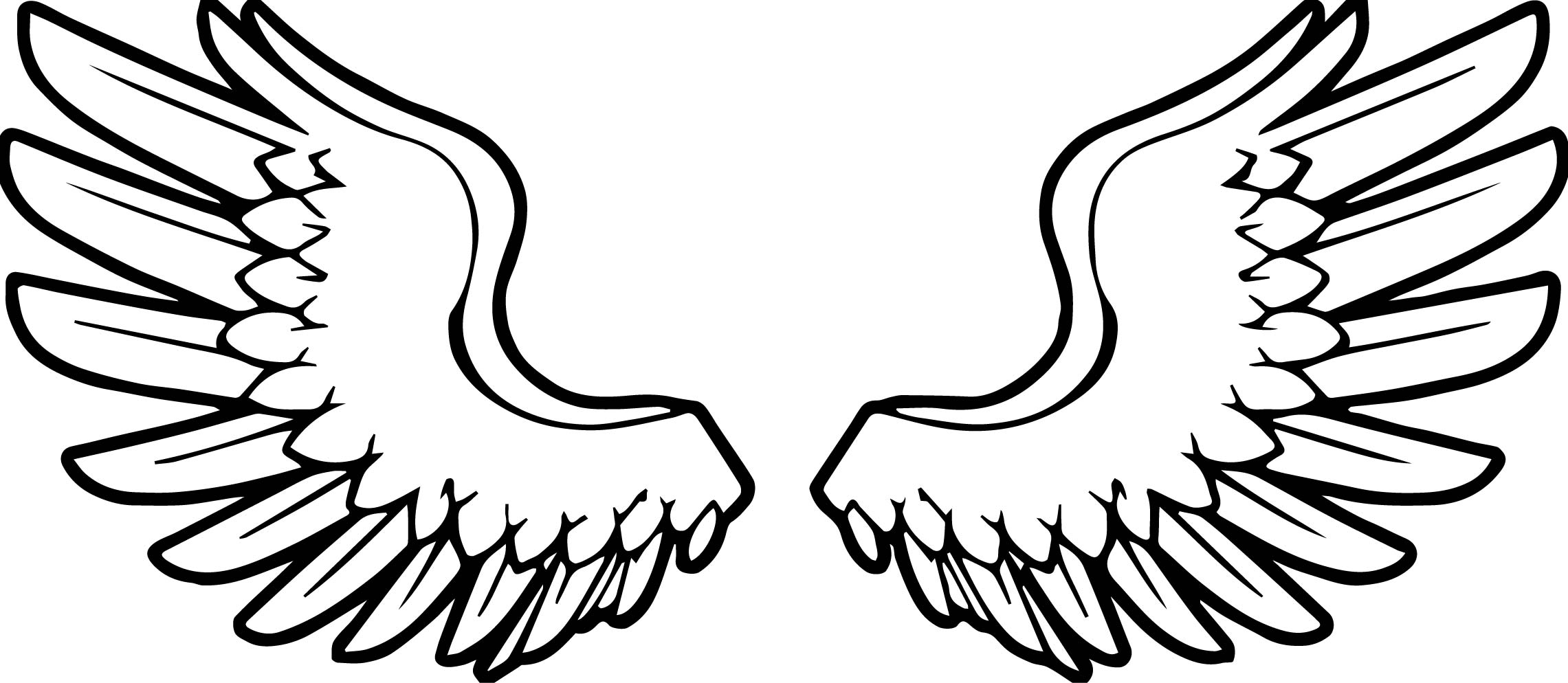 Uncategorized Angel Wings Coloring Pages angel wings coloring page wecoloringpage page