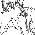 Anime Boy And Girl Couple Love Coloring Page