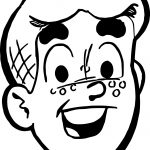 Archie Face Coloring Page