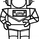 Astranout Robot Coloring Page