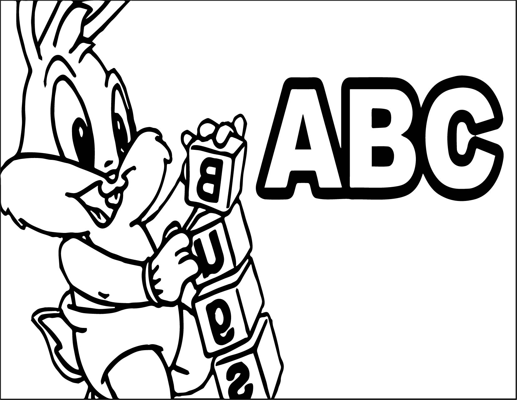 Baby Alphabet Coloring Pages : Baby bugs bunny abc coloring page wecoloringpage