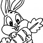 Baby Bugs Bunny Carrot Coloring Page