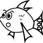 Be Suprised Cartoon Fish Coloring Page Sheet