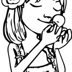 Beautiful Girl And Sweet Duck Coloring Page