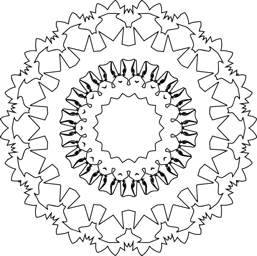 Best Circle Mandala Coloring Page