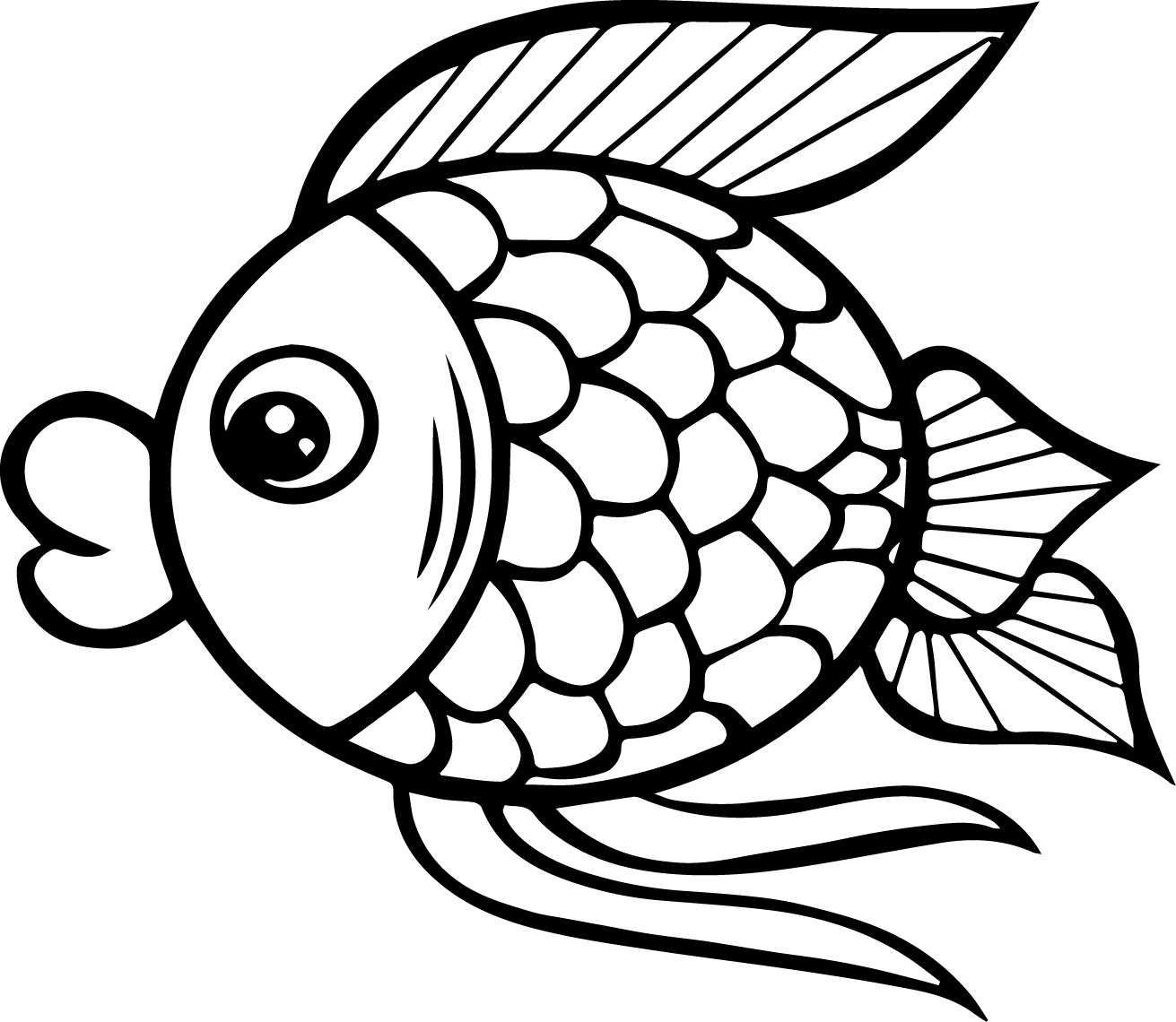 Cartoon Coloring Pages Big Mouth Cartoon Fish Coloring Page Sheet  Wecoloringpage