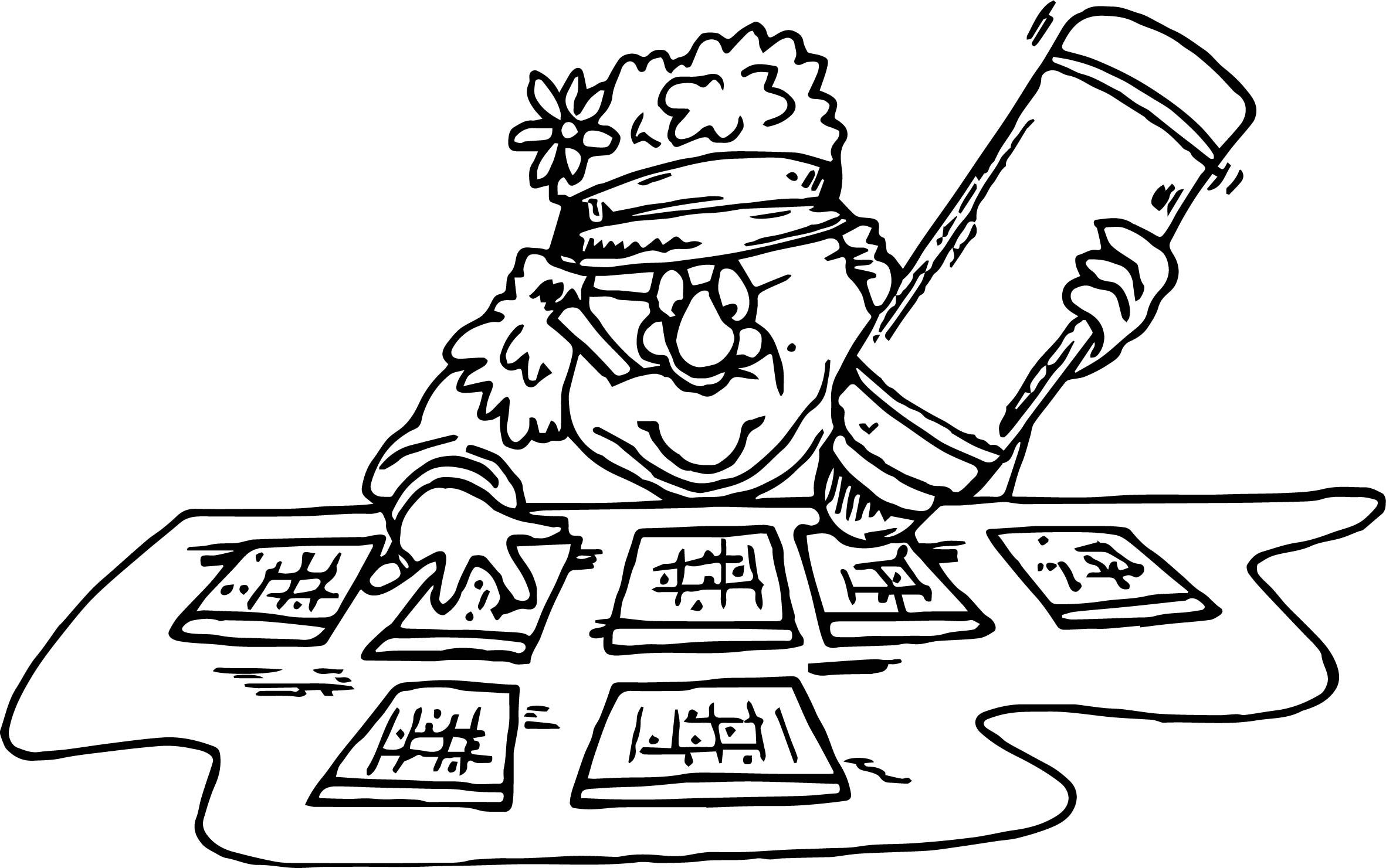 Bingo coloring page for Bingo coloring pages