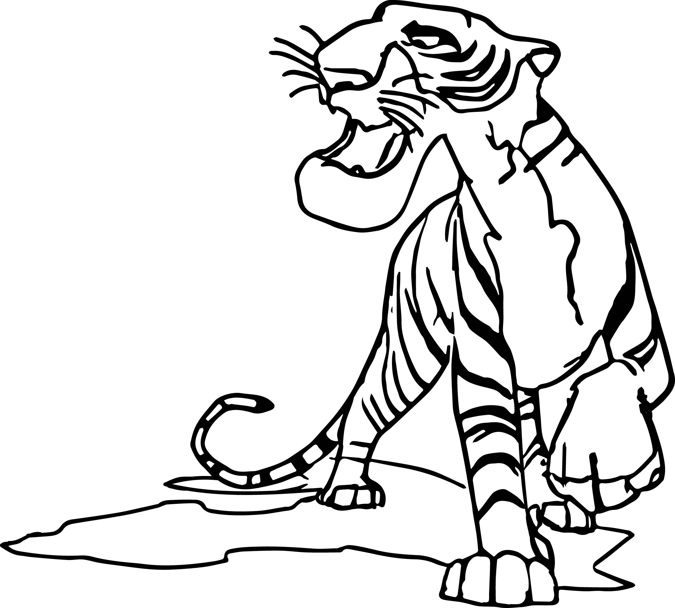 Cartoon Animal King Coloring Page