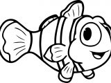 Cartoon Fish Cute Coloring Page Sheet