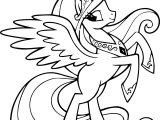 Cartoon Horse Wing Coloring Page