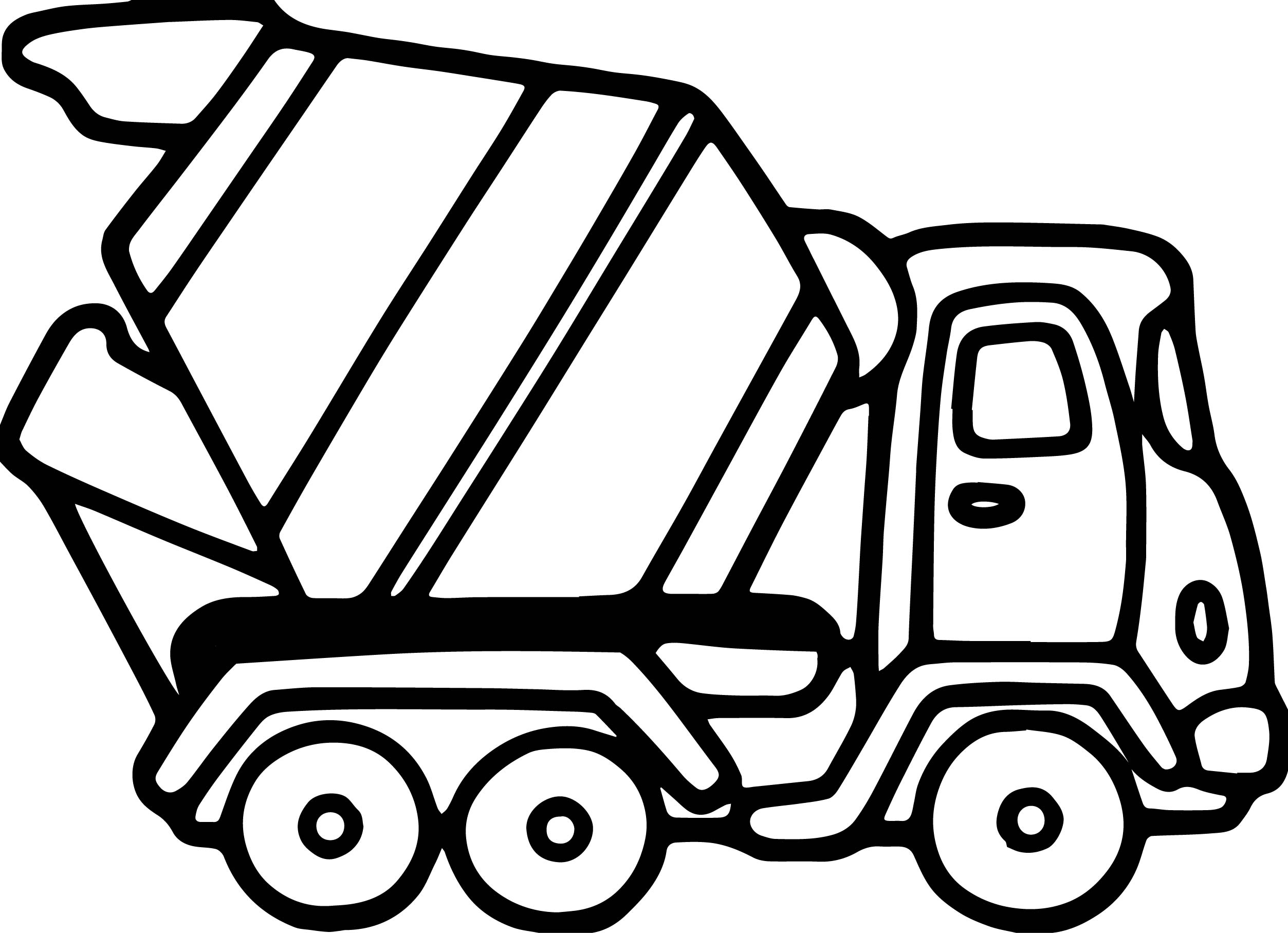Cement Truck Fast Coloring Page