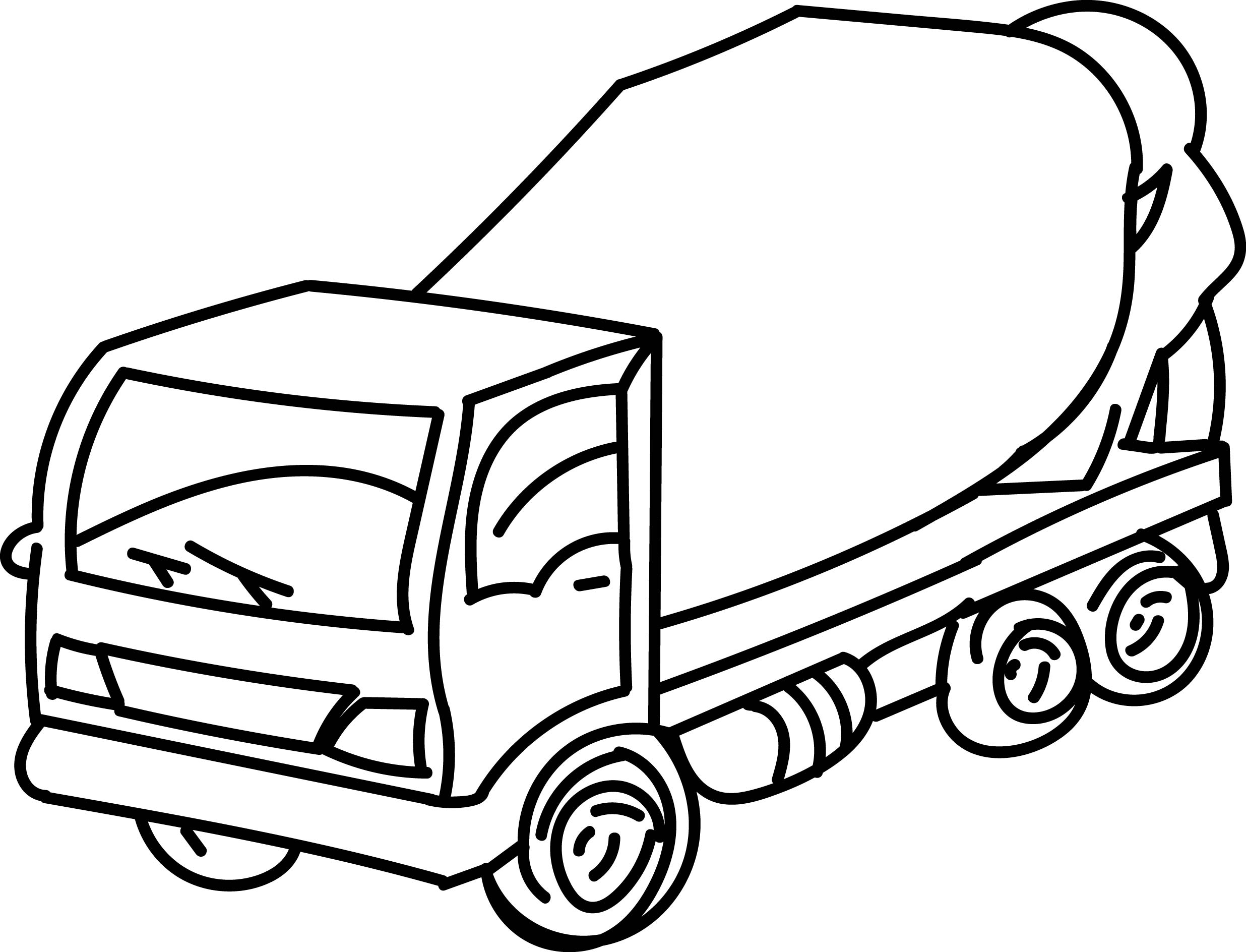 cement mixer coloring pages - cement truck go coloring page