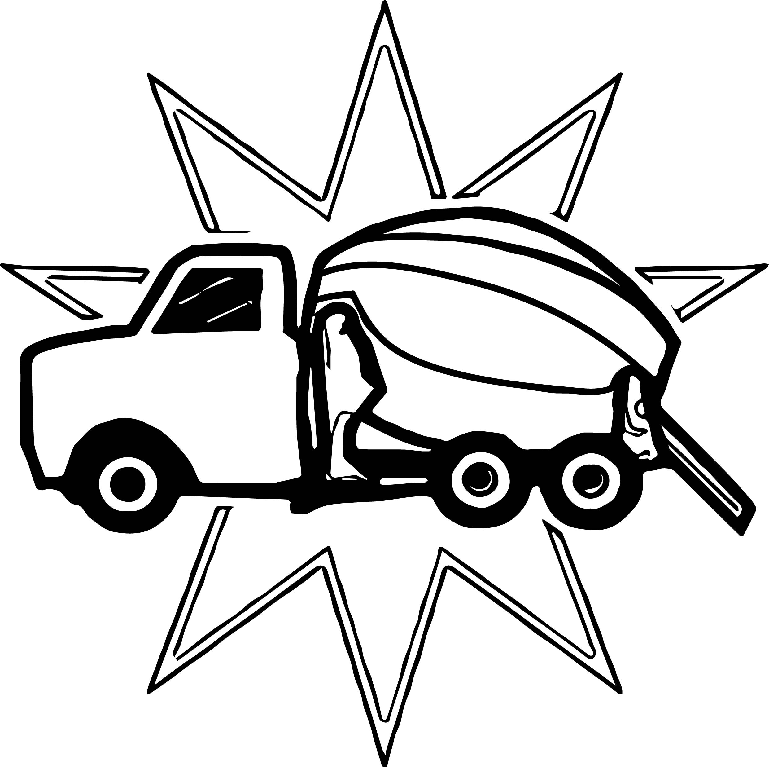 Cement Truck Prize Coloring Page