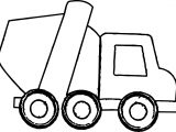 Cement Truck Smaller Coloring Page