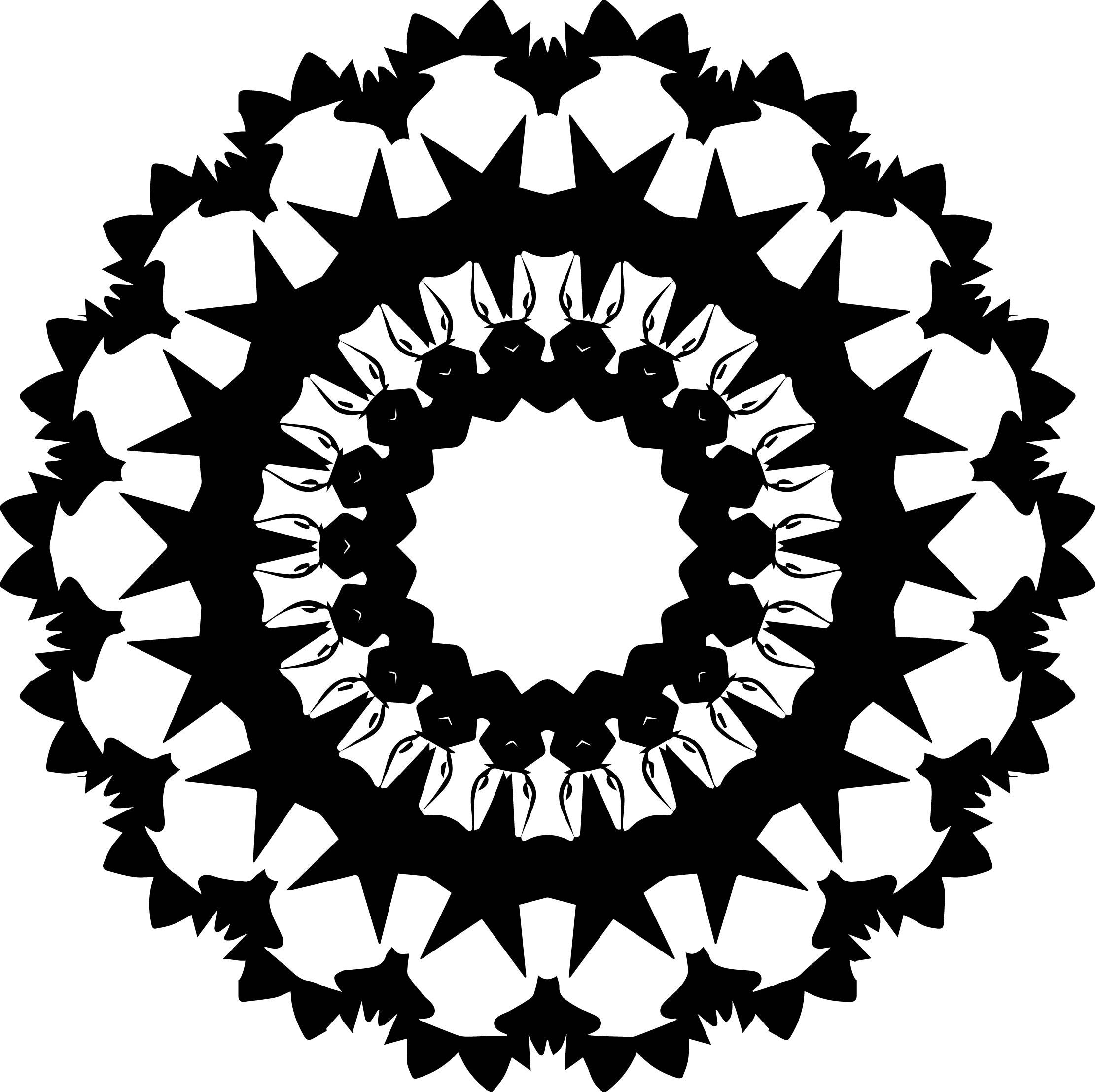 Comic Black White Mandala Coloring Page