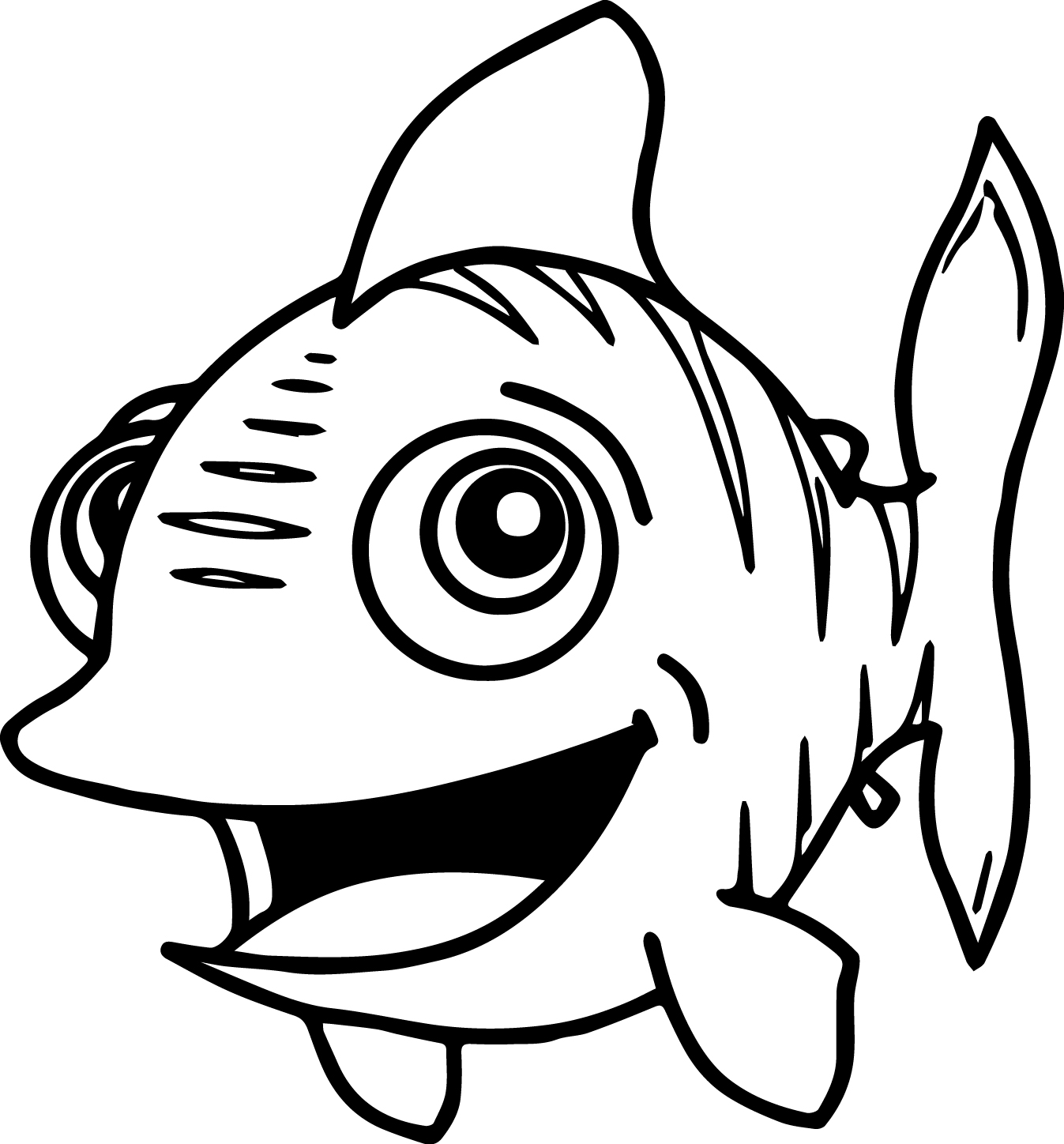coloring pages cartoon fish - photo#15