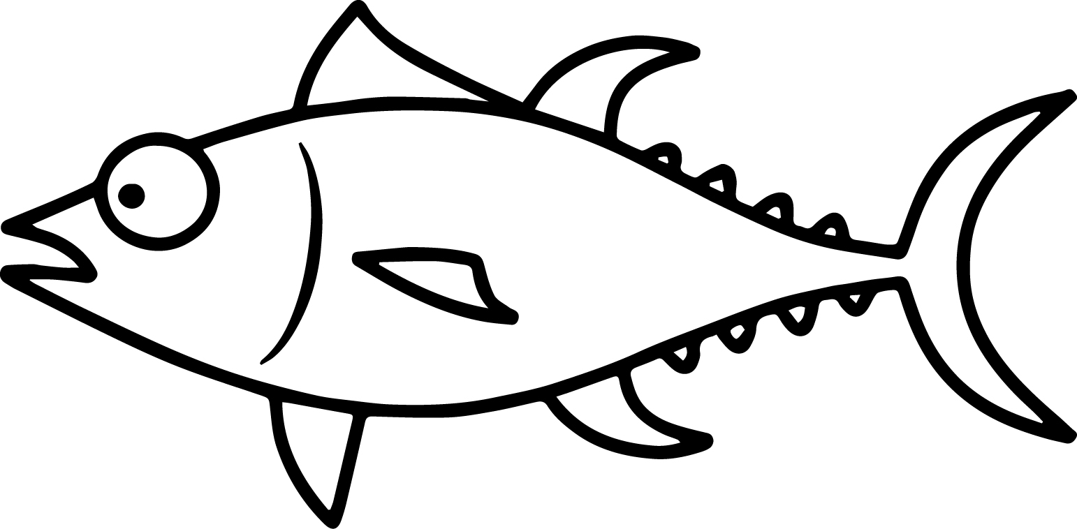 Confused cartoon fish coloring page sheet for Color pages of fish