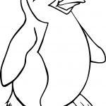 Cute Cartoon Penguin Happy Feet Coloring Page