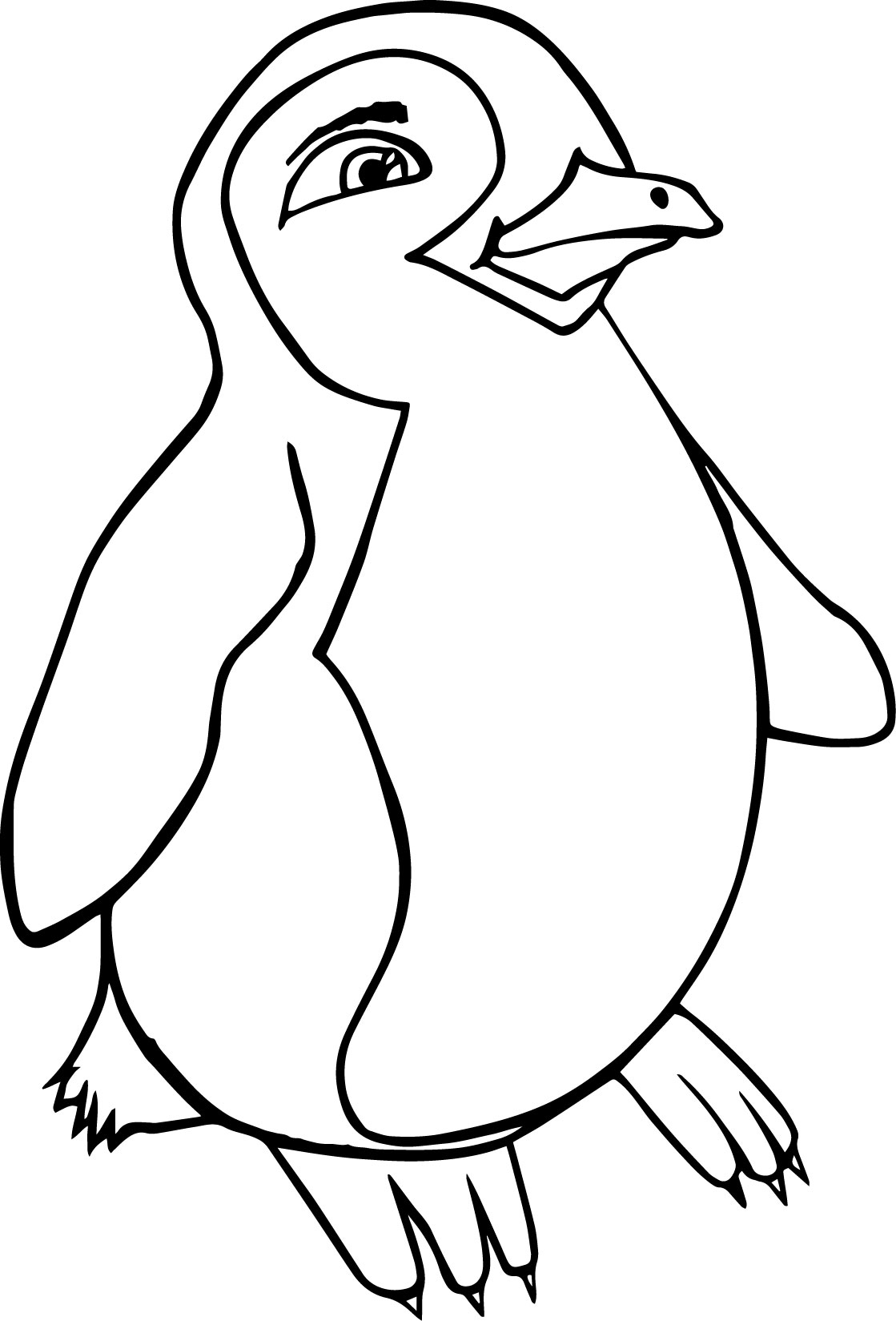 Cute Cartoon Penguin Happy Feet Coloring Page