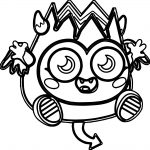 Diavlo Moshi Monsters Coloring Page