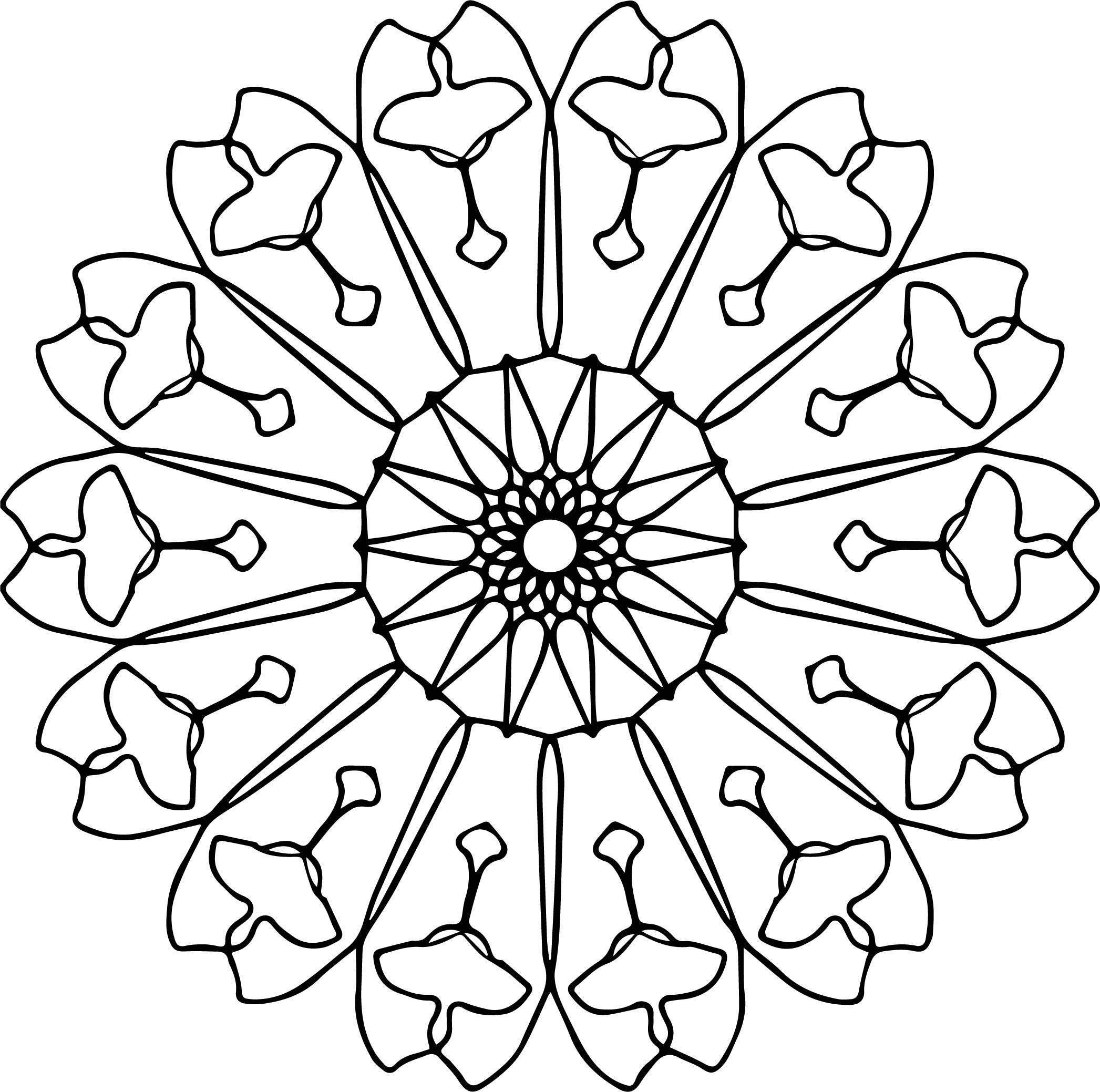 Download Mandala Coloring Page