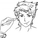 Drawing Manga Boy Coloring Page