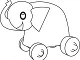 Elephant Toy Car Coloring Page