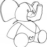 Elephant Toy Cartoon Coloring Page